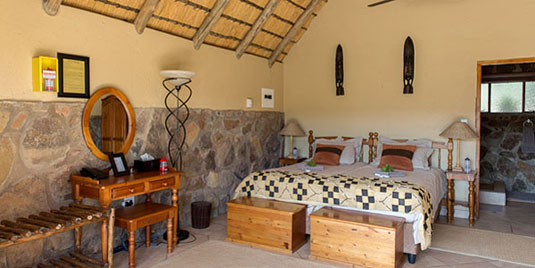 Kololo Game Reserve Standard 2 Bed Chalet Self catering Fully Catered Accommodation malaria-free Waterberg Big 5 South Africa